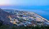 Evening lights of Kamari, Santorini — Stock Photo