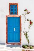 Greek house door in Santorini — Stock Photo