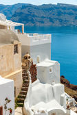 Old and new house in Oia, Santorini — Stock Photo
