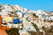 View on the south part of Oia town, Santorini — Stock Photo