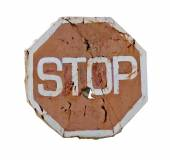 Old sign stop — Stock Photo