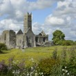 Photography famous irish landmark, quin abbey, county clare, ire — Stock Photo #67892365
