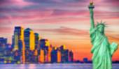 Blurred Background image from New York City — Stock Photo