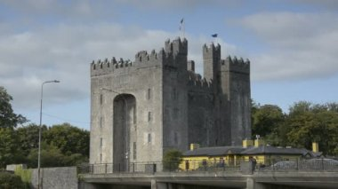 Famous Public Bunratty Castle and durty Nellies Irish Pub, Durty Nelly's, County Clare, Ireland — Stock Video