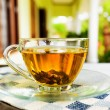 Cup of tea on summer terrace — Stock Photo #54344317