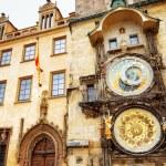 The Prague astronomical clock (Prague orloj) at the Old Town Squ — Stock Photo #55163777