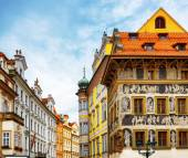 The house At the Minute (Dum u Minuty) in Prague — Stockfoto