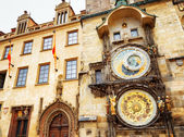 The Prague astronomical clock (Prague orloj) at the Old Town Squ — Stock Photo