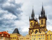 The Church of The Mother of God in front of Tyn in Prague, Czech — Stock Photo