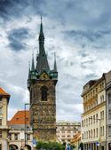 The Henry's Bell Tower (Jindrisska tower) in Prague, Czech Repub — Stock Photo