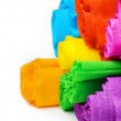 Rolls of various color paper on white background — Stock Photo #55348727
