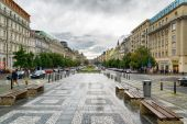 View of The Wenceslas Square in Prague — Stock Photo
