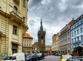 The Henry Bell Tower (Jindrisska tower) in Prague — Stock Photo