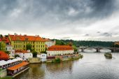 View of the Lesser Town (Little Quarter) in Prague, Czech Republ — Stock Photo
