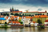 Lesser Town and Castle District (Hradcany) in Prague — Stock Photo