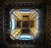 The Eiffel Tower in Paris, France. Paris is one of the most popu — Stock Photo
