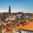Colored facades and roofs of houses in Porto, Portugal. — Stock Photo #62350429
