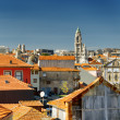 Colored facades and roofs of houses, view of the historic centre — Stock Photo #62350683
