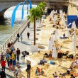 The public beach on the banks of the River Seine in Paris, Franc — Stock Photo #62354351