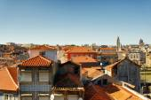 Colored facades and roofs of houses in Porto, Portugal. — Stock Photo