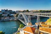 The Dom Luis Bridge in Porto, Portugal. — Stock Photo