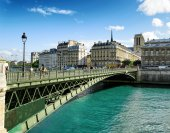 The view of the Bridge of Arcole. Paris, Franse — Stock Photo