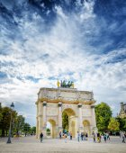 The view of the Triumphal arch on the square of Carrousel. Paris — Stock Photo
