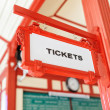 Sign indicating where you can buy tickets — Stock Photo #62362205