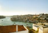 View of the Douro River and historic centre of Porto, Portugal. — Stock Photo