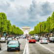 The view of the Triumphal arch to the Champs-Elysees. Paris, Fra — Stock Photo #65193371