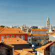 Colored facades and roofs of houses, view of the historic centre — Stock Photo #65357431