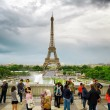 The view of the Eiffel Tower, Paris, France. — Stock Photo #65360399