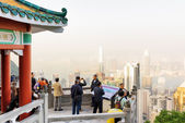 Viewpoint of the Victoria Peak in Hong Kong — Stock Photo