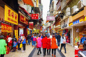Trading in anticipation of the Chinese New Year in Macau — Foto de Stock