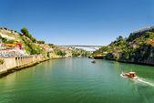 The Douro River in Porto, Portugal. — Stock Photo