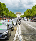 The view of the Triumphal arch to the Champs-Elysees. Paris, Fra — Stock Photo