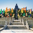 View of Tian Tan Buddha on the blue sky background — Stock Photo #68249057