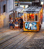The Gloria Funicular in Lisbon, Portugal. — Stock Photo