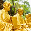 Golden Buddha statues along the stairs leading to the Ten Thousa — Stock Photo #70629373