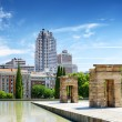 Gates to the Temple of Debod, ancient Egyptian temple, in the Pa — Stock Photo #72472047