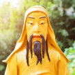 Closeup view of Golden Buddha statue on nature background in Hon — Stock Photo #72472917