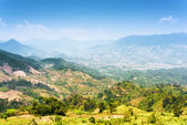 Beautiful view of the valley in the mountains around Da Lat city — Stock Photo