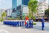 Military parade in Ho Chi Minh City — Stock Photo
