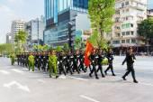 Военный парад в Хошимин — Стоковое фото