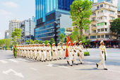 Military parade in Ho Chi Minh City — Stock Photo
