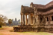 One of buildings on area of Angkor Wat in Siem Reap, Cambodia — Stock Photo