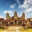 East facade of ancient temple Angkor Wat in Siem Reap, Cambodia — Stock Photo #76320211