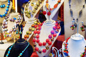 Original jewelry from Murano Glass in shop window, Venice, Italy — Stock Photo