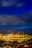 Oil Refineries in dusk — Stock Photo