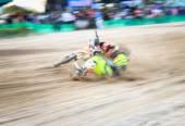 Blurred of crashes — Stock Photo